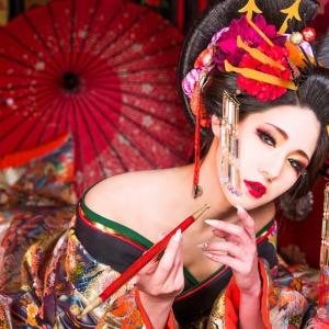 伊達兵庫髷での古典花魁体験